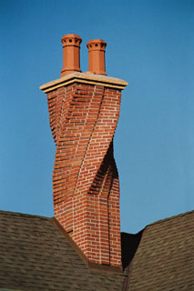 A spiral chimney we built.